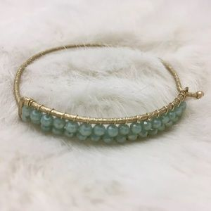 Jewelry - Faux Opal Bracelet Bangle Boho Babe Handwired